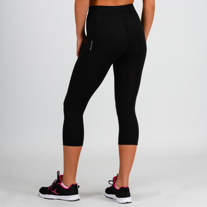 100 Women's Cardio Fitness Cropped Bottoms - Black