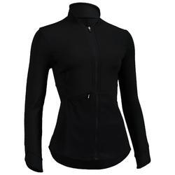 Trainingsjacke 500 Cardio-/Fitnesstraining Damen schwarz