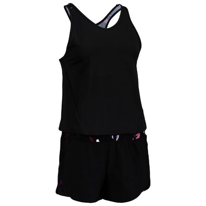 Jumpsuit FJS 500 Cardio Fitness Damen schwarz