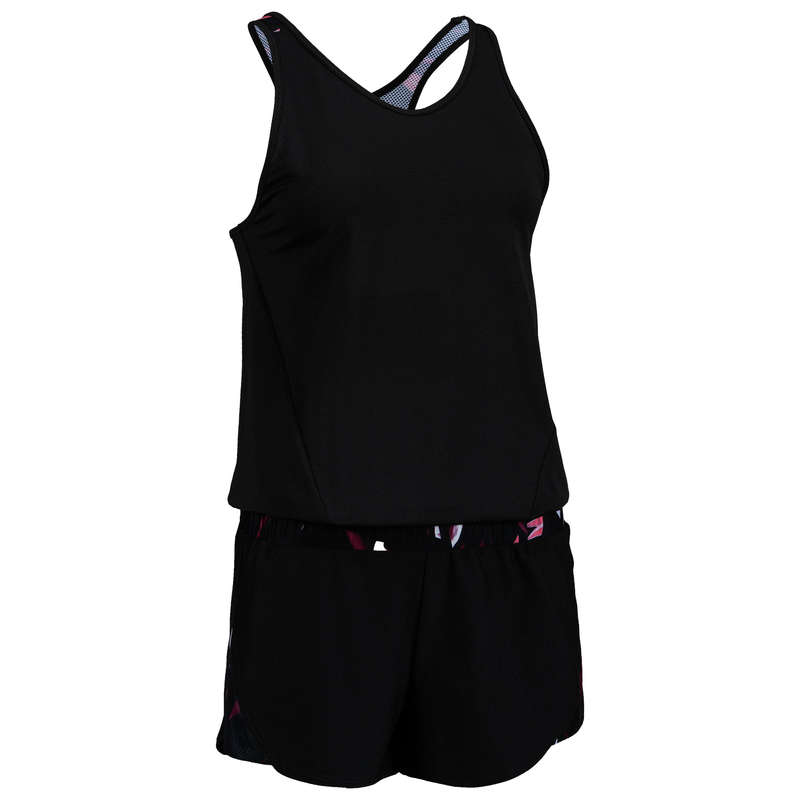 FITNESS CARDIO CONFIRMED WOMAN CLOTHING - FJS 500 Romper - Black DOMYOS