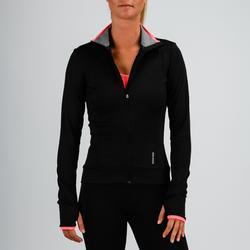 Trainingsjacke FJA 100 Fitness Cardio Damen schwarz