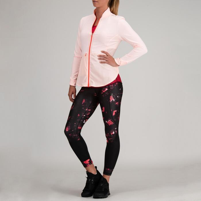 Trainingsjacke 500 Cardio-/Fitnesstraining Damen blassrosa