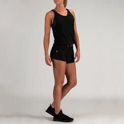 500 Women's Cardio Fitness Romper - Black