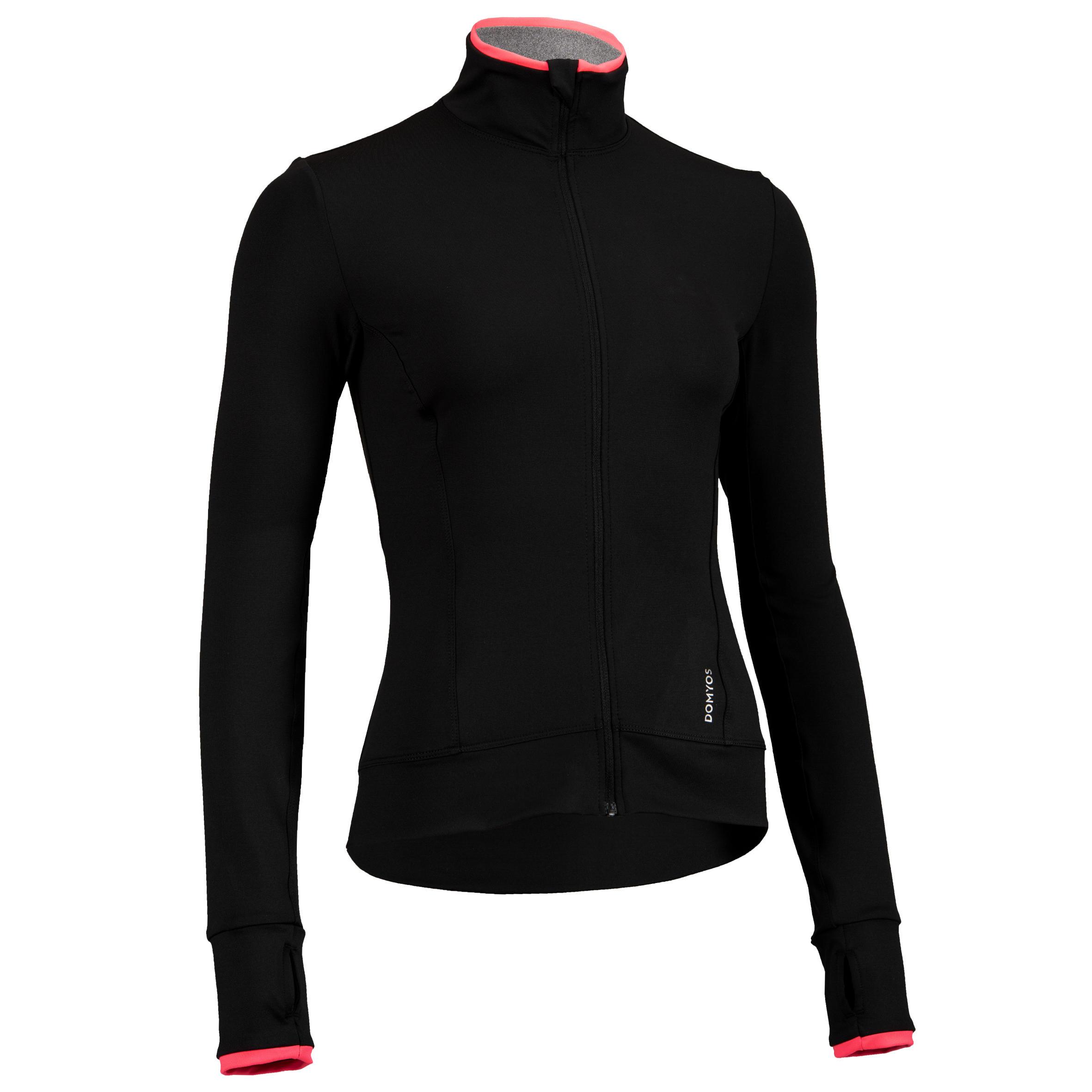 100 Women's Fitness Cardio Training Jacket - Black