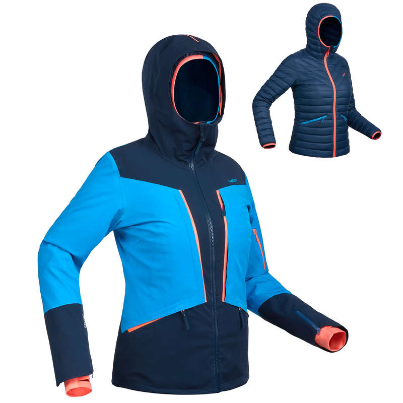 WOMEN'S JACKET OR PANT ADVANCED SKIERS Clothing - SKI-P JKT 900 W - NAVY BLUE WEDZE - Jackets and Coats