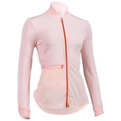 Veste fitness cardio training femme rose pâle 500