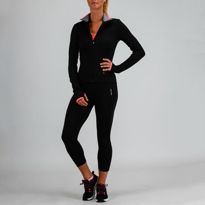 Chaqueta Sudadera chándal Cardio Fitness Domyos 100 mujer negro