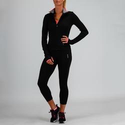Trainingsjacke FJA 100 Cardio Fitness Damen schwarz