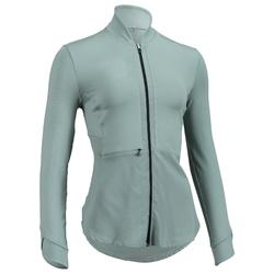Trainingsjacke 500 Fitness Cardio Damen grün