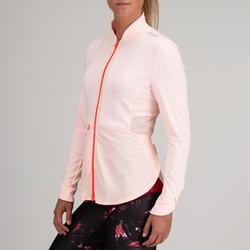 Chaqueta Sudadera chándal Cardio Fitness Domyos 500 mujer rosa