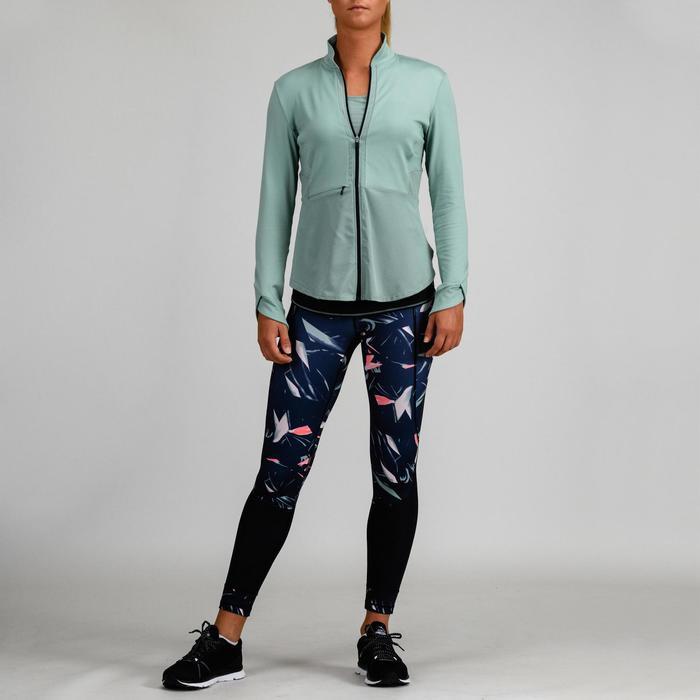 Veste cardio fitness femme verte 500