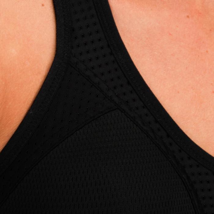 Sport-Bustier Power FEBRA 900 Fitness Cardio Damen schwarz mit Print