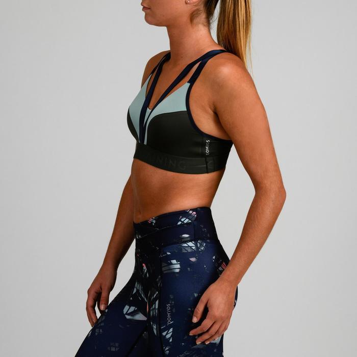 Sport-Bustier FBRA 520 Fitness Cardio Damen khaki/grün