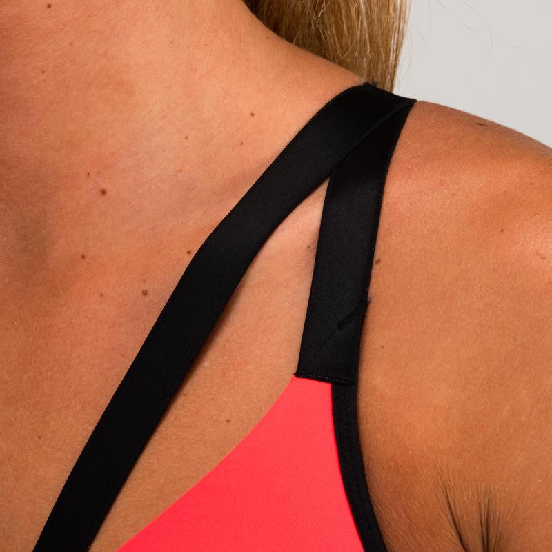 520 Women's Cardio Fitness Sports Bra - Burgundy/Pink