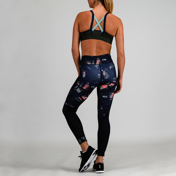Sport-Bustier 520 Cardio-/Fitnesstraining Damen khaki/grün