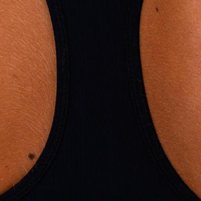 Brassière Zip cardio fitness femme lilas imprimée 900