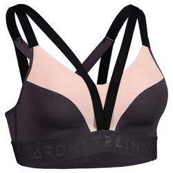 520 Women's Cardio Fitness Sports Bra - Lilac and Light Pink