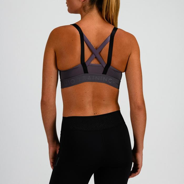 女款有氧健身運動內衣520-紫色/淡粉色