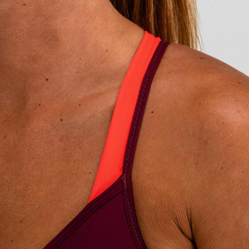 Top cardio fitness mujer ciruela 120