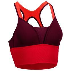Brassière cardio fitness femme prune 120