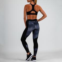 Sport bh fitness 500, zwart/grijs