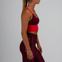 Sport-Bustier 120 Fitness Cardio Damen pflaume