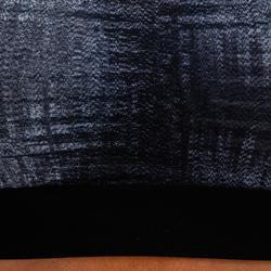 女款有氧健身T恤500-灰色印花