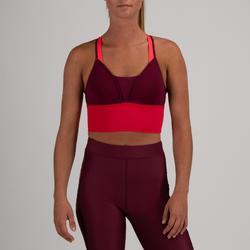 Sport-Bustier 120 Cardio-/Fitnesstraining Damen pflaume