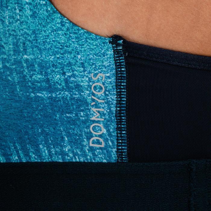 Sport-Bustier 500 Fitness Cardio Damen marineblau mit Print