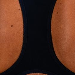 Cardiofitness sportbeha voor dames 500 marineblauw met print