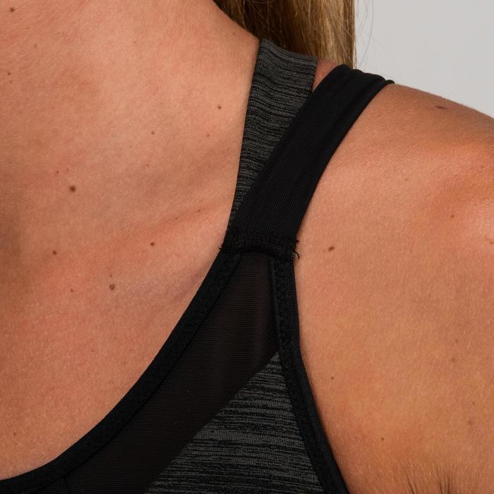 Brassière cardio fitness femme gris chiné 520