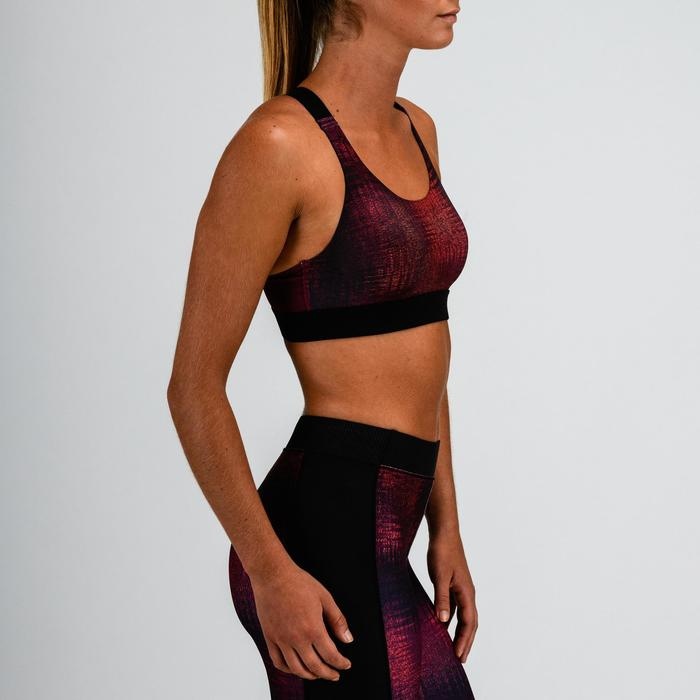 Sport bh fitness 500, zwart/rood