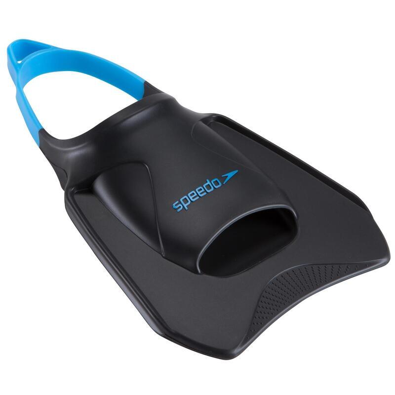 Korte zwemvliezen Biofuse fitness fins grijs/blauw