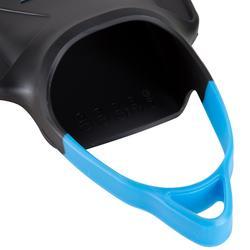 Schwimmflossen kurz grau/blau