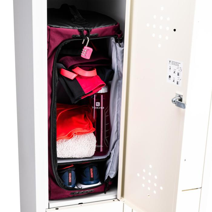 Sporttas fitness like-a-locker 40 liter, bordeaux