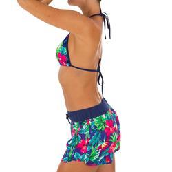 Boardshort surf femme TINI BORA avec ceinture élastiquée et cordon de serrage