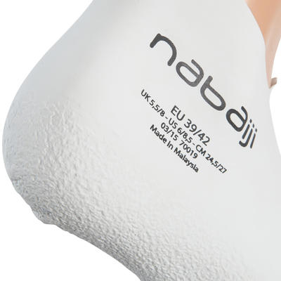 CHAUSSONS NATATION EN LATEX ADULTE BLANCS