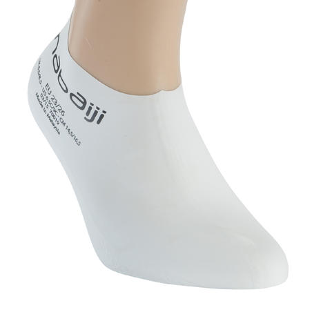 WHITE JUNIOR LATEX SWIMMING SOCKS