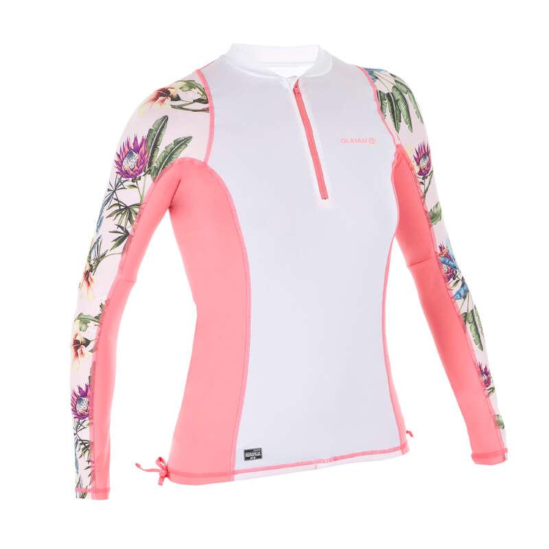 Солнцезащитная одежда для женщин Серфинг, Вейкбординг - ФУТБОЛКА СОЛНЦЕЗАЩ. ЖЕН. 500L  OLAIAN - Одежда, обувь