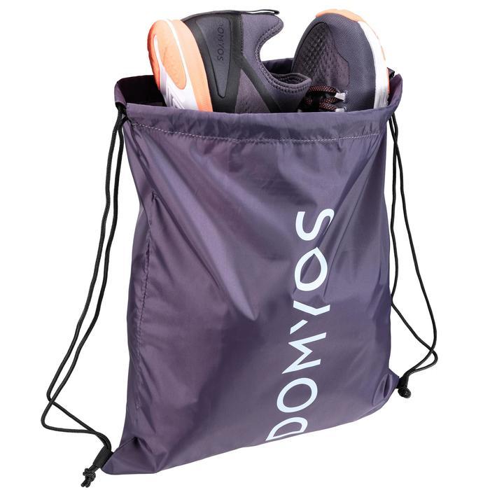 Bolsa calzado fitness plegable gris violeta