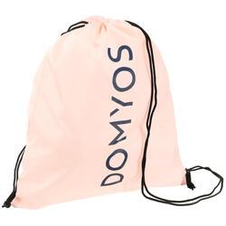 Mochila de cuerda Cardio Fitness Domyos calzado rosa pastel