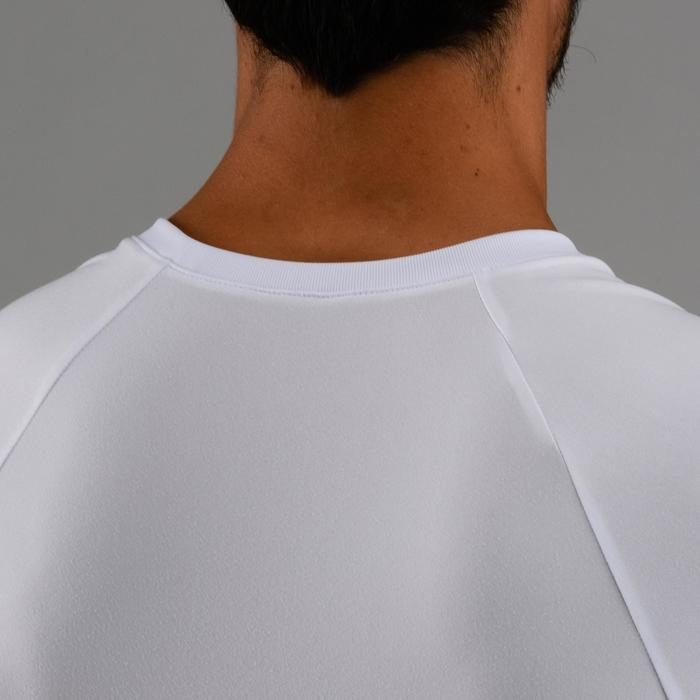 有氧健身訓練T恤FTS 100-白色