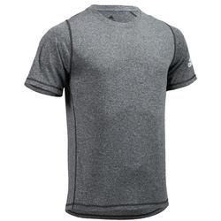 Camiseta Manga Corta Fitnes Cardio Adidas Hombre Gris Tecnología Climalite