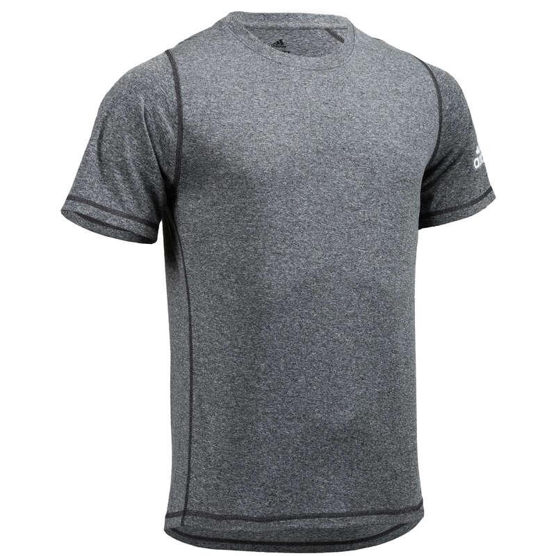 ABBIGLIAMENTO UOMO CARDIO FITNESS Fitness - T-shirt uomo fitness grigia ADIDAS - Abbigliamento palestra