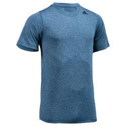 Camiseta Manga Corta Fitnes Cardio Adidas Hombre Azul Tecnología Climalite
