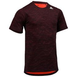 Tee shirt cardio fitness homme ADIDAS rouge E1