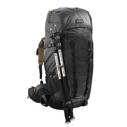 Men's Mountain Trekking Backpack Trek 900 Symbium 70L +10L - Grey