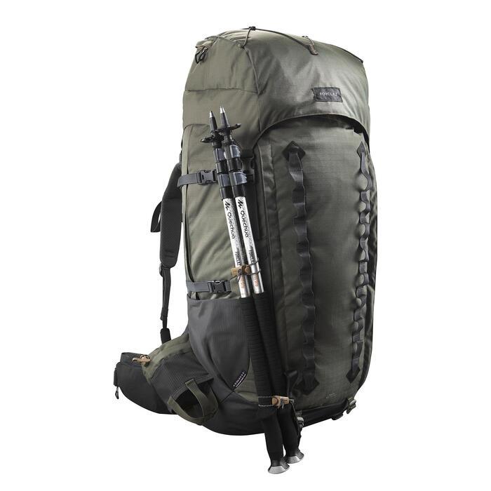 Sac à dos de trekking en montagne homme - TREK 900 Symbium - 90+10L Kaki