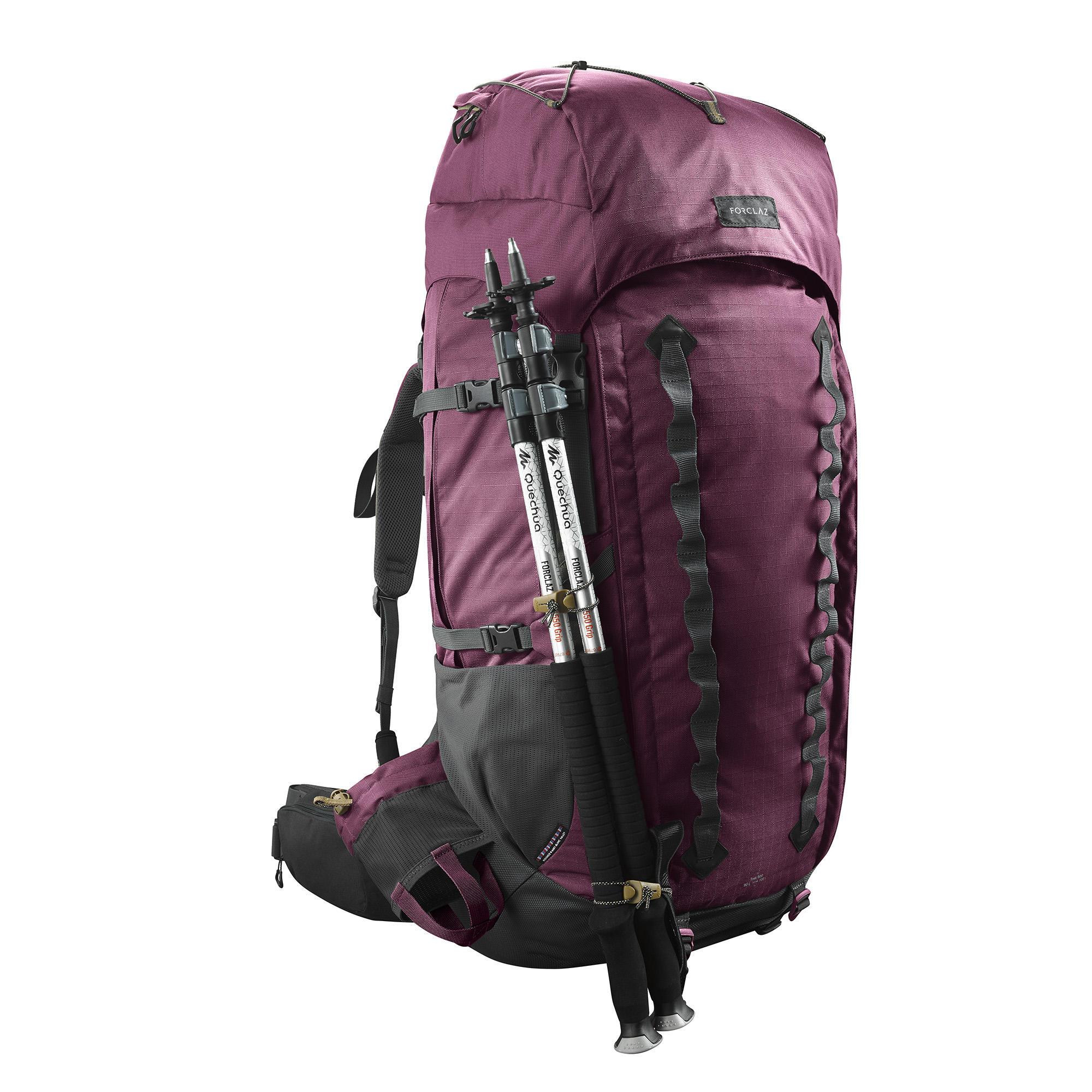 8943482dff3 Forclaz Bergsport rugzak voor dames Trek 900 70 l +10 l Symbium bordeaux |  Decathlon