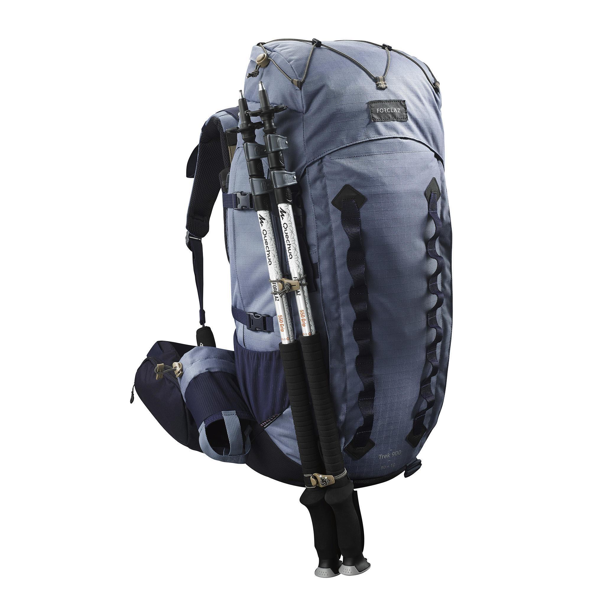 Forclaz Backpack voor bergtrekking voor dames Trek 900 50+10L blauw